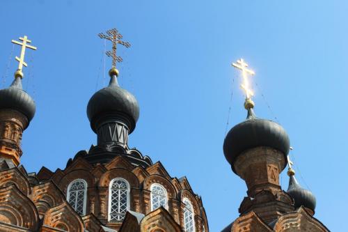 """Das Kloster """"Schamardino"""", in dem Tolstois Schwester lebte"""