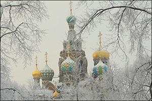 Zwiebeltürme in St. Petersburg