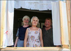 Persönliche Treffen mit unseren russischen Bekannten auf der Datscha