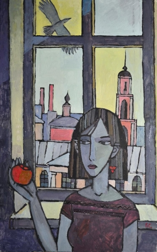 """""""Mädchen mit Apfel"""", Stanislav Baranov"""