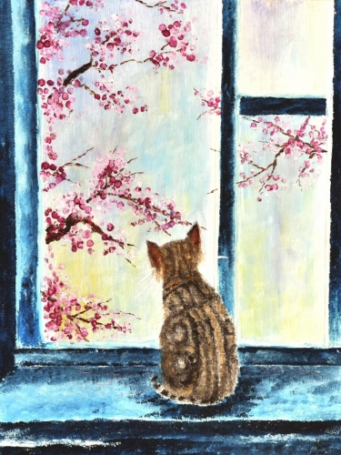 """Willow viewing the cherry blossoms"", Ceres Pioquinto"