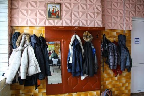 Garderobe in der Kantine