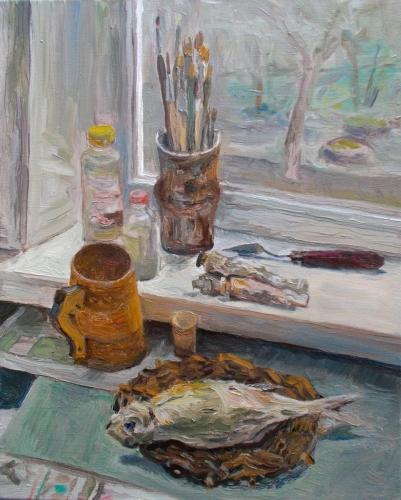 """""""Stillleben mit Fisch"""", Viktor Jegorov"""