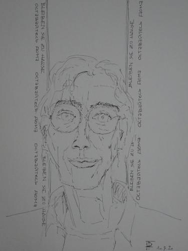"""""""Bleiben Sie zu Hause oder Blick nach Innen No. 2"""", Peter Frey"""