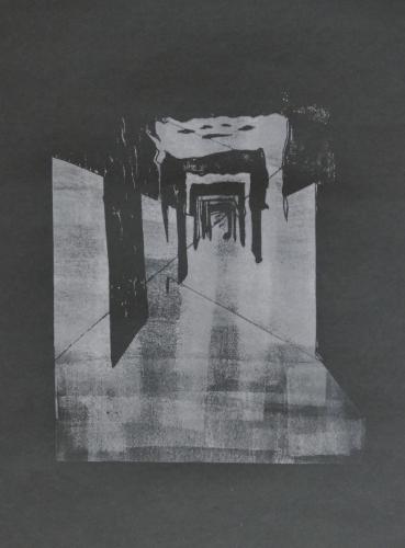 """""""am Ende des Tunnels zum Licht I"""", Sylvia Frischknecht"""